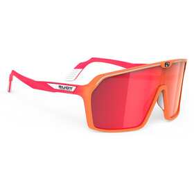 Rudy Project Spinshield Occhiali, mandarin fade/coral matte/multilaser red